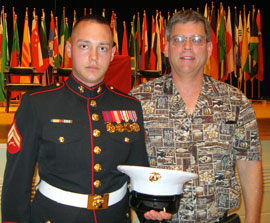 Dr. Scott Turansky with his Marine son Ben